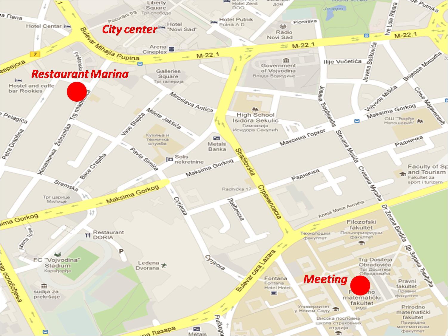Map Of Novi Sad Map Of Pannonia Map Of Yerevan Map Of Split - Novi sad map